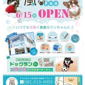 広島のドッグサロン「風~FUU~」 2021年06月14日03時47分投稿 お知らせ記事「6月15日オープン決定」